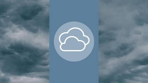 Wolken symbolisieren Realwert-Verlust